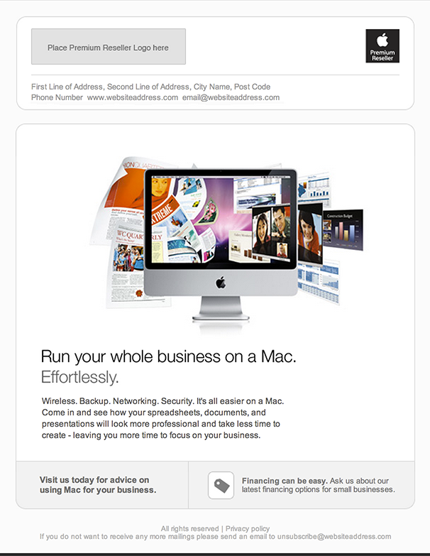 Apple HTML email screenshot