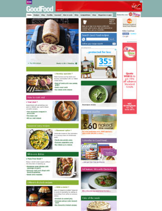 BBC Good Food website screenshot
