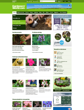 Gardeners' World website screenshot