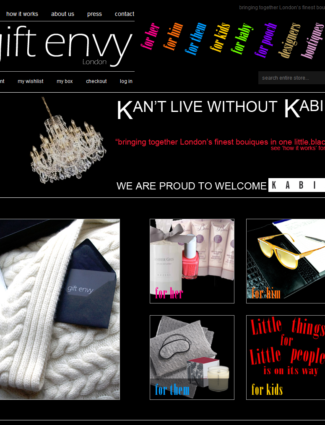 Gift Envy website screenshot