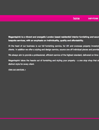Magentapink website screenshot