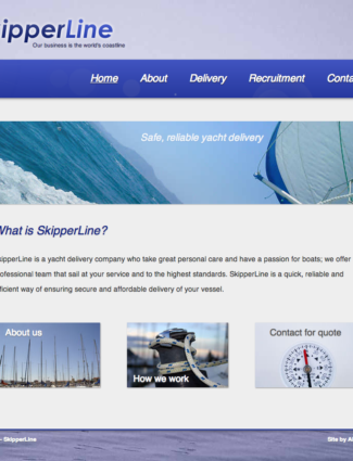 SkipperLine website screenshot