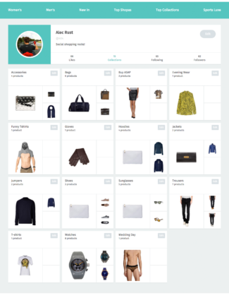 Shopa website screenshot