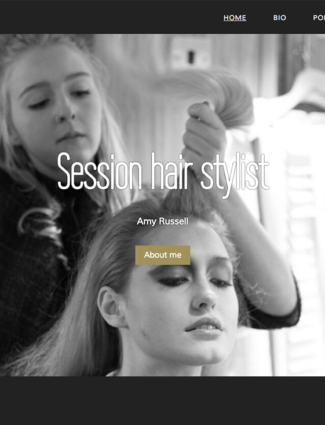 Amy Russell Hair website screenshot